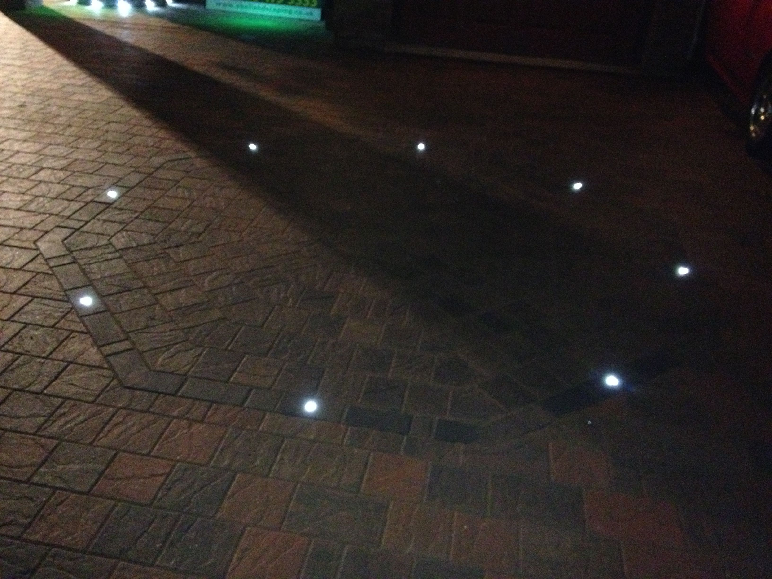 block paving lighting. A Marshalls Block Paving Driveway In Knowsley, Here We Have Installed Driveline Excel With LED Lighting