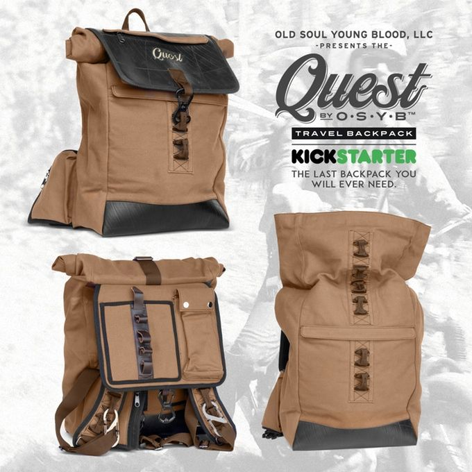 The QUEST by OSYB™ Travel Backpack by Old Soul Young Blood, LLC — Kickstarter