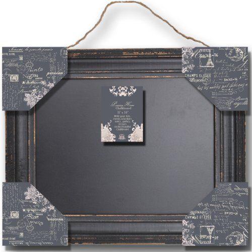 "Parisian Home Distressed Wood Framed Wall Chalkboard / Blackboard Collection 11"" x 14"" Home Office Collection,http://www.amazon.com/dp/B00GP2WCHG/ref=cm_sw_r_pi_dp_74Uptb1EM8F9N3C1"