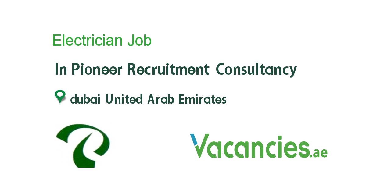 Electrician In 2020 Recruitment Consultancy Electrician Job