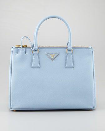 a1557e3ff6cc Medium Saffiano Double-Zip Executive Tote Bag, Blue (Astrale). Prada  SaffianoBeautiful BagsBaby BlueNeiman MarcusFashion ...