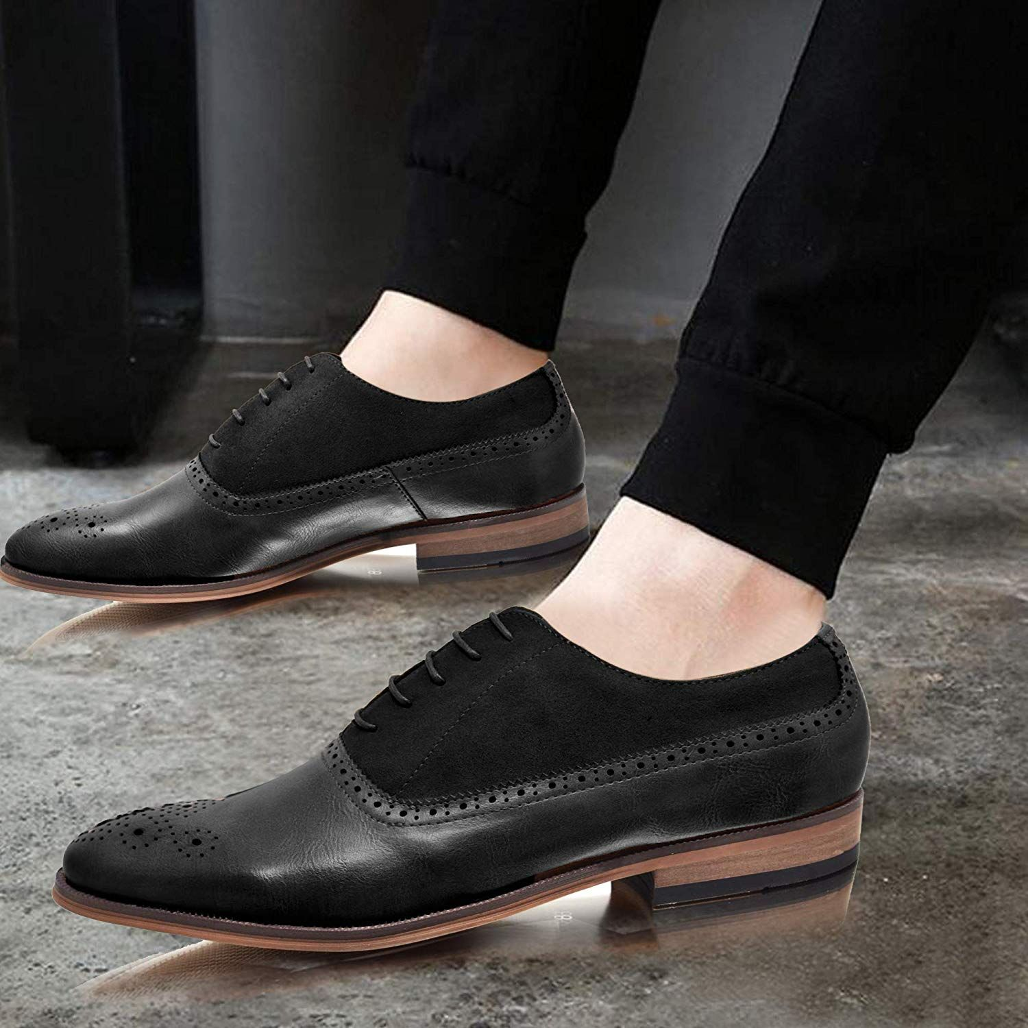 Mens Leather Shoes New Slip On Italian Smart Formal Wedding Office Shoes Size Modern Design Clothing, Shoes & Accessories Dress Shoes