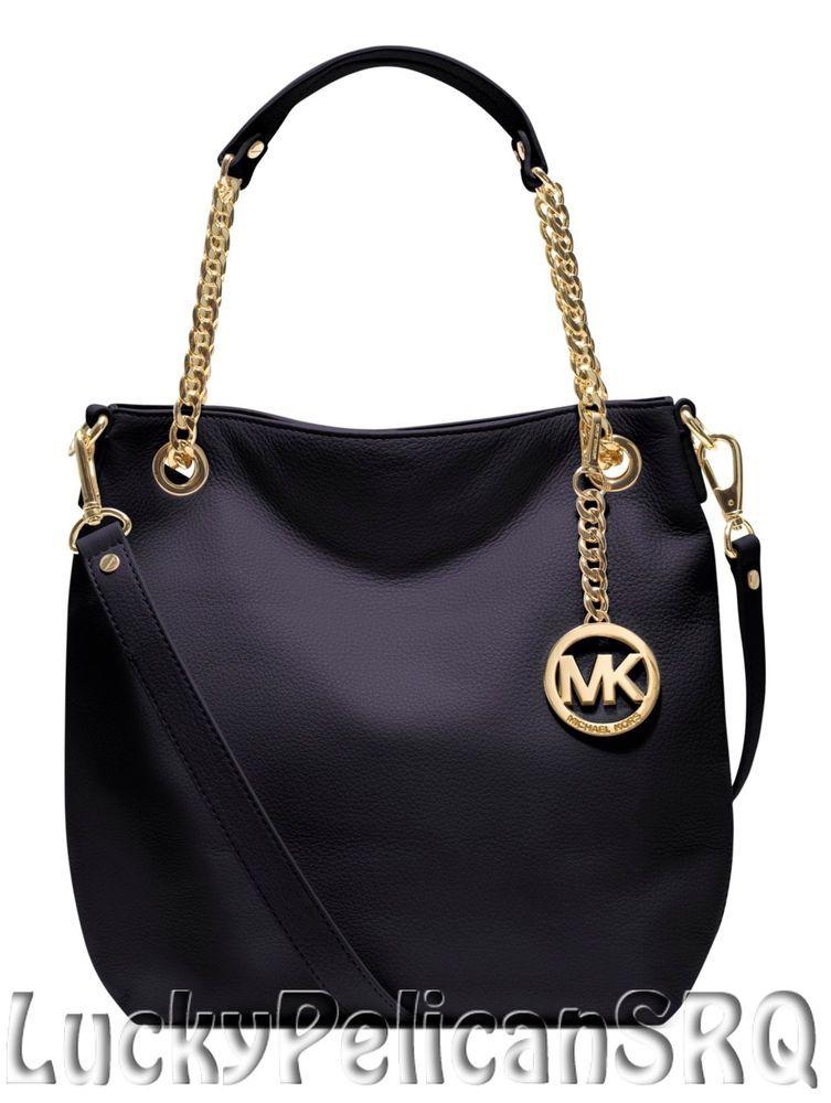 6920acb1c52 Michael Kors Jet Set Medium Chain Navy Blue Shoulder Tote Handbag Bag NWT # MichaelKors #TotesShoppers