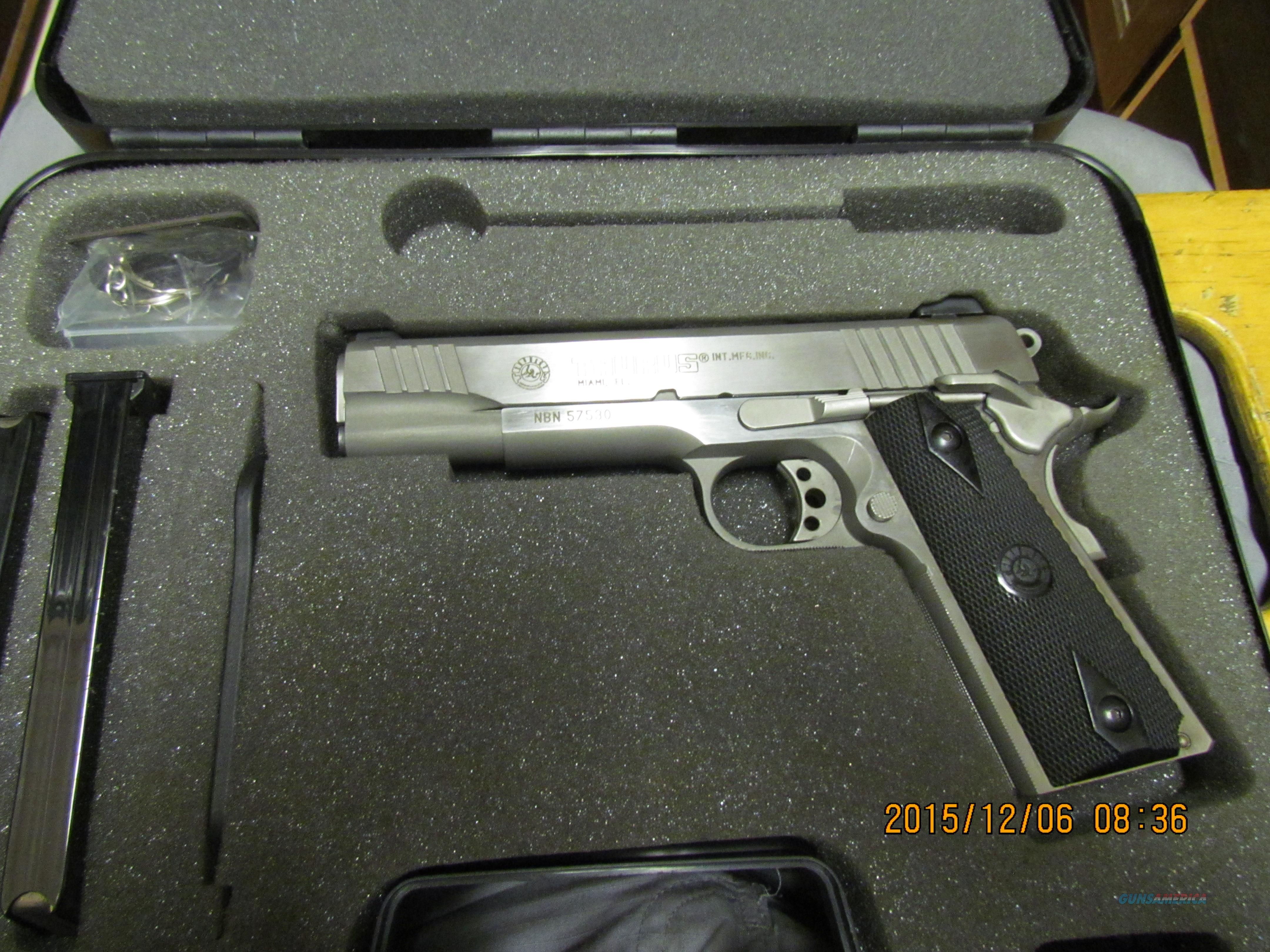 Taurus PT 1911 stainless for sale (926708499)Loading that magazine ...