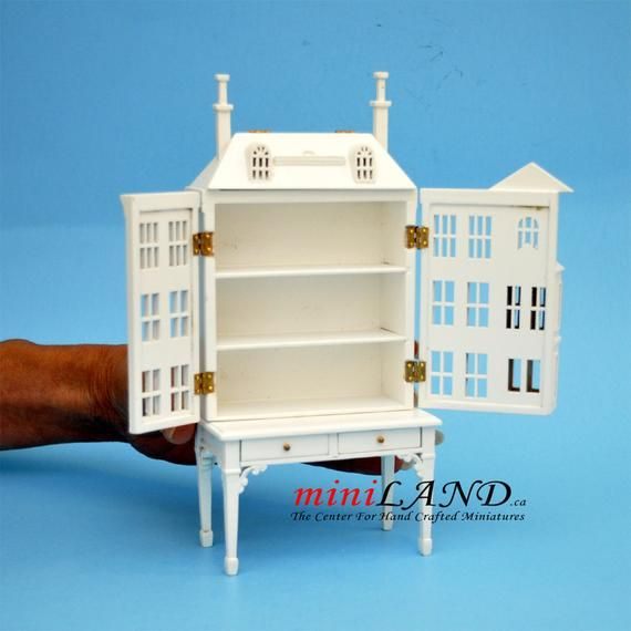 Victorian Dollhouse for dollhouse with table WHITE 1:144 miniature house for 1/12 rooms