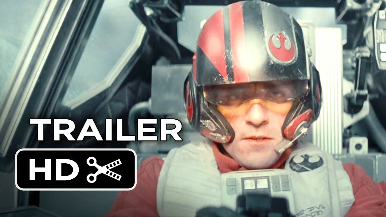 Star Wars: Episode VII - The Force Awakens Official Teaser Trailer #1.  A perfectly tense introduction followed by a nostalgic scene to make tears well up in your eyes.
