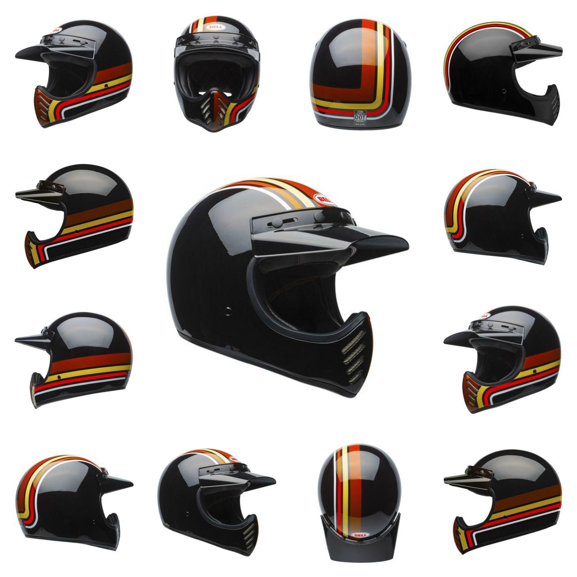 The Bell Moto 3 Motorcycle Helmet