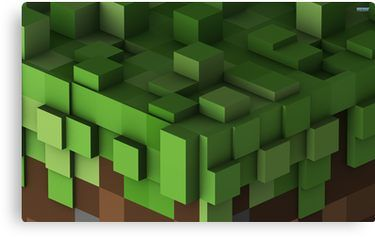 Grass Block Minecraft Canvas Print Minecraft Wallpaper Minecraft Interior Paint