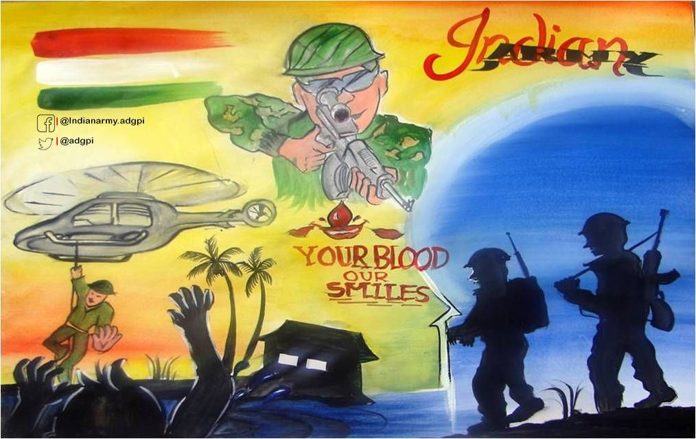 Adg Pi Indian Army On Army Drawing Army Poster Army Day