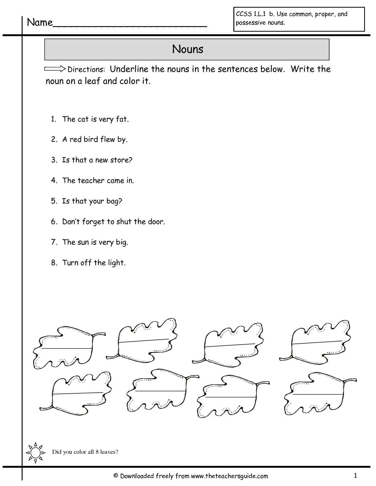 Possessive Nouns Worksheets 3rd Grade Free Pronoun