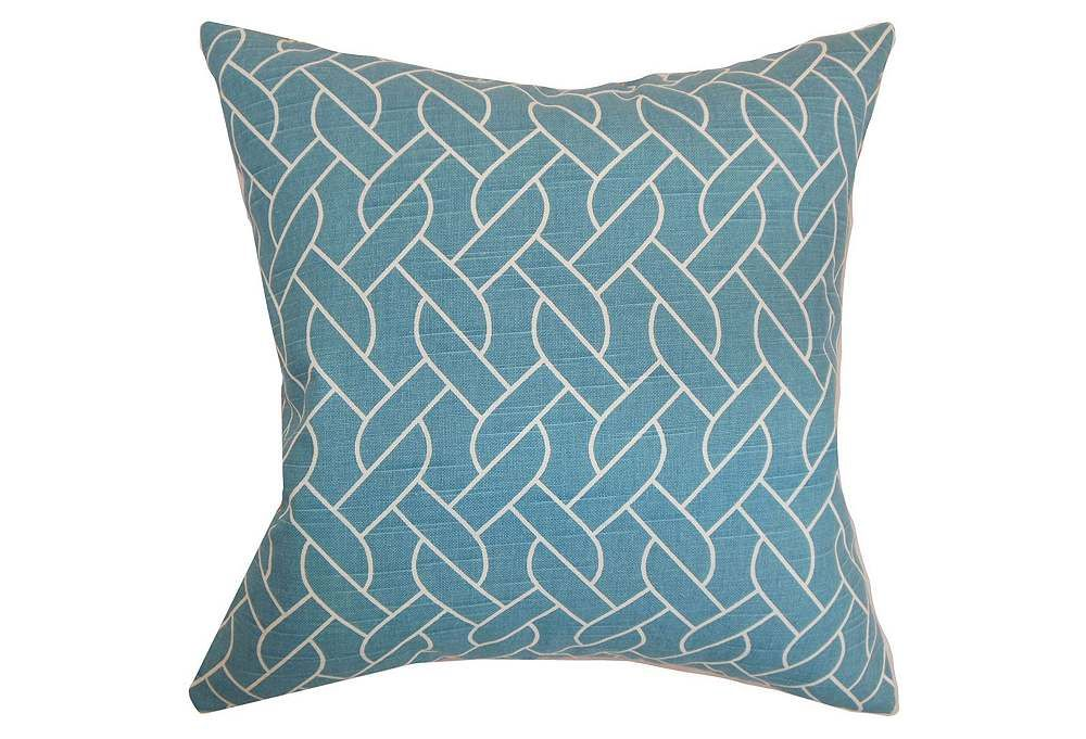 One Kings Lane Color Spectrum Neptune 18x18 Pillow Aquamarine