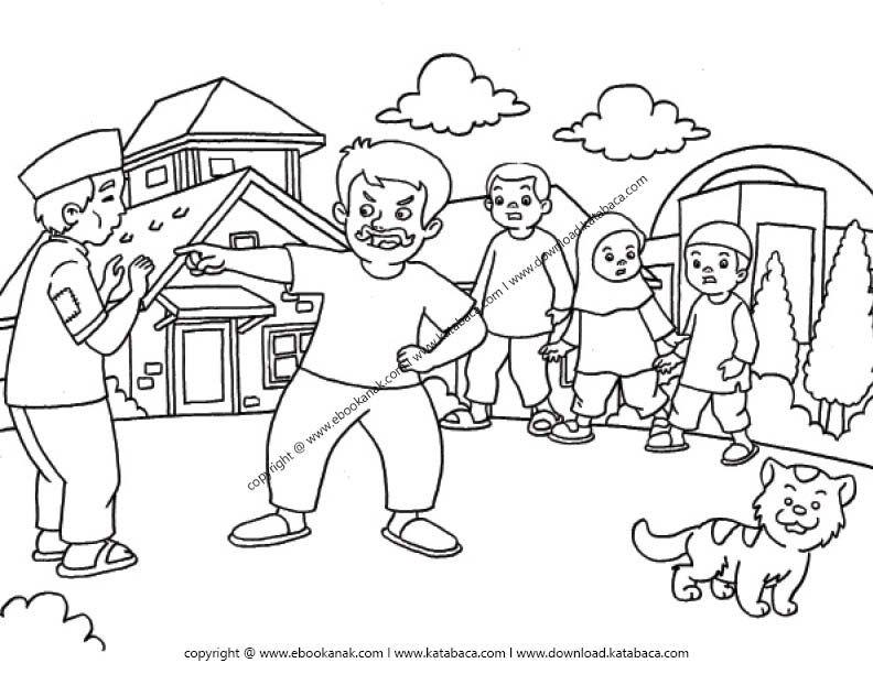 Gambar Mewarnai Orang Sedang Marah Ebook Anak Di 2020 Buku