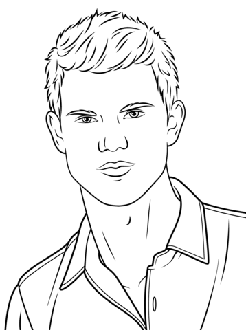 Taylor Lautner Coloring Page In 2020 Coloring Pages Dark Art Drawings Pictures To Draw