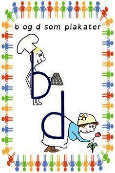 B Og D Som Plakater Skole Billeder Laesning Undervisning