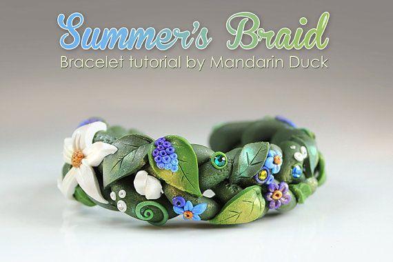 Summer Braid Tutorial  PDF tutorial  summer boho nature inspired cute fairy bracelet bangle Summer Braid Tutorial  PDF tutorial  summer boho nature inspired cute fairy br...