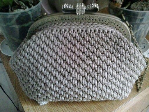 Pochette In Cordino Crochet Clutch Borse Fatte A Maglia Borse