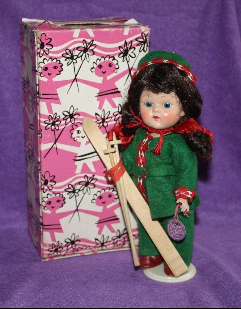 MiB Vogue Ginny Doll Ski II #49 Original Box Brown Hair Green Outfit RARE **