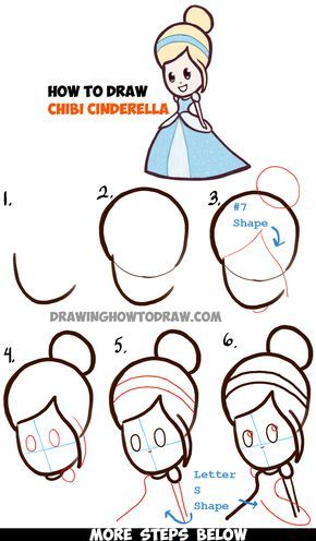 Learn How to Draw Cute Baby Chibi Cinderella - Simple Steps Drawing ...