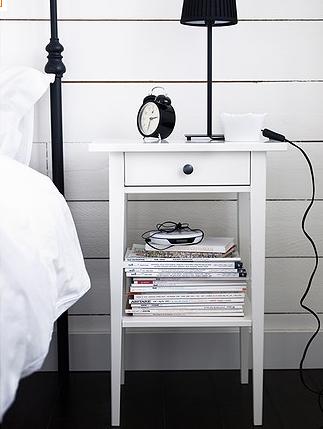Simple Unobtrusive Nightstand For Iron Bed Bedroom Pinterest
