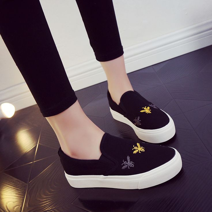 Tendance Chaussures 2018 : 2017 Scarpe Donna All-Match Lazy Canvas Shoes  Woman Students Korean Loafers Wome... - Vogue Tunisie