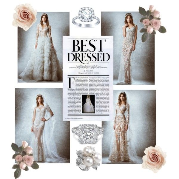 wedding whichway by traynk on Polyvore featuring polyvore fashion style Cara Zuhair Murad