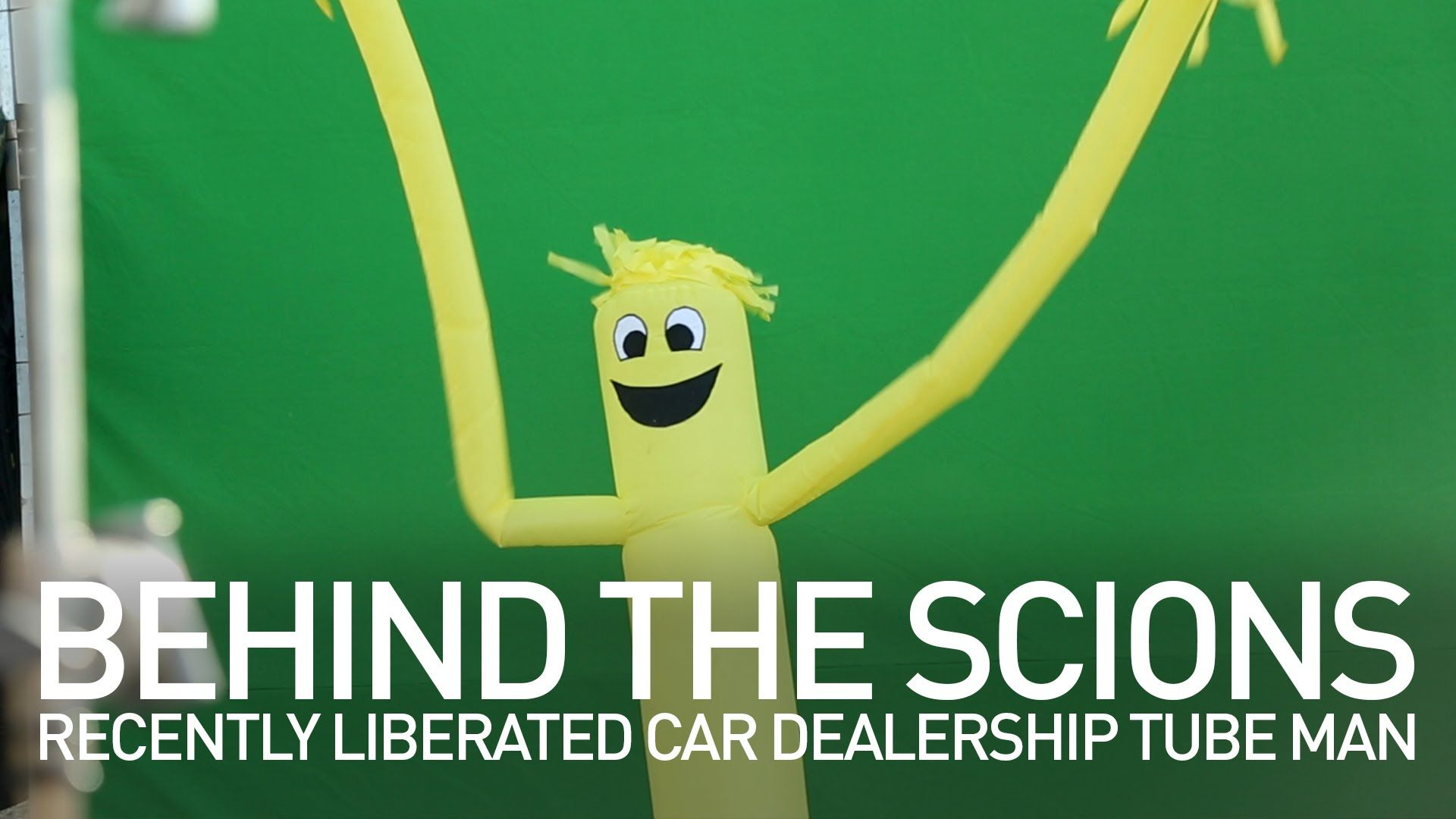 Behind The Scions – Recently Liberated Car Dealership Tube Man (Scion)