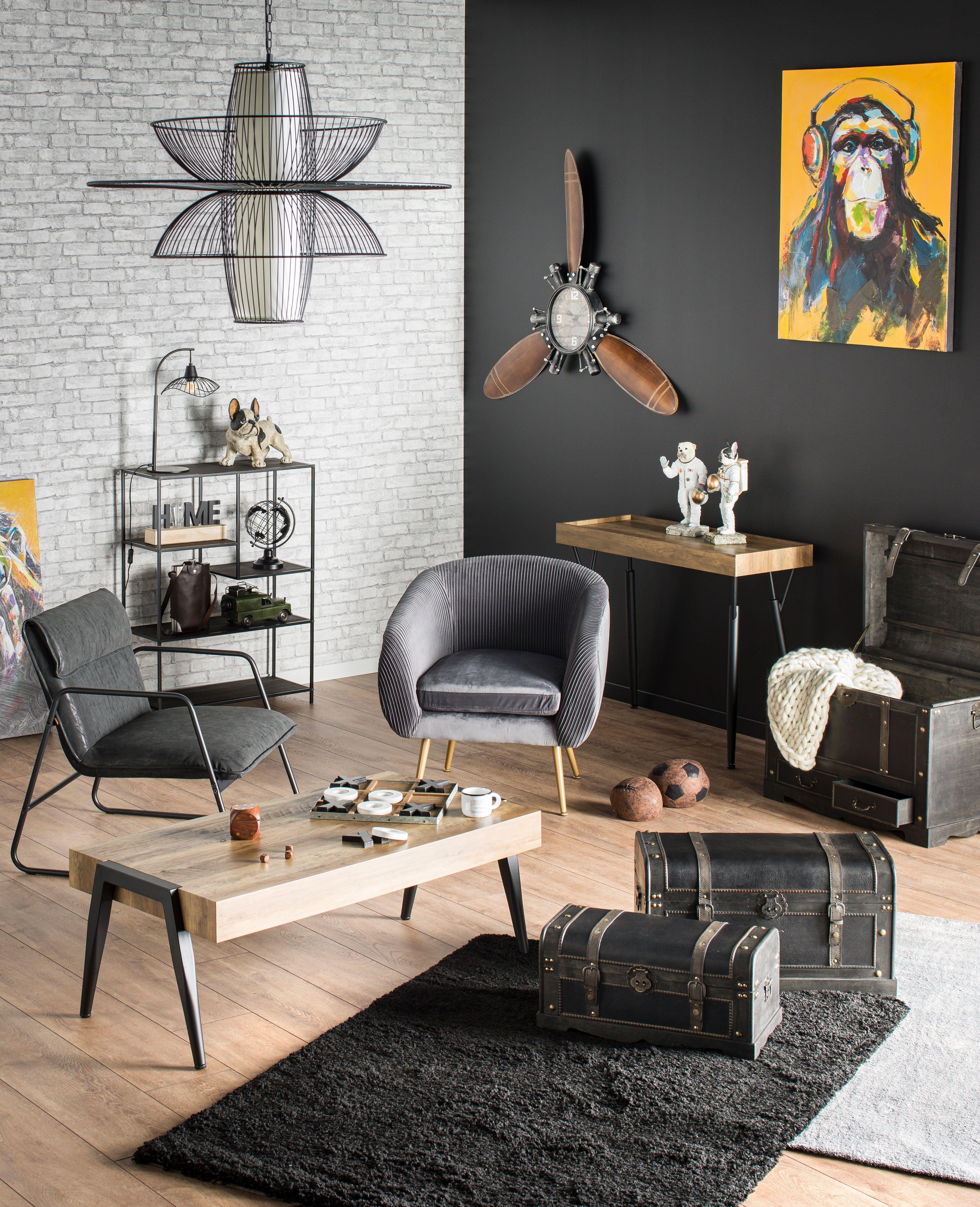 Ambiance Brooklyn Decoration De Salon Loft Industriel Kalico En 2020 Decoration Salon Objet Deco Industrielle Ambiance Deco