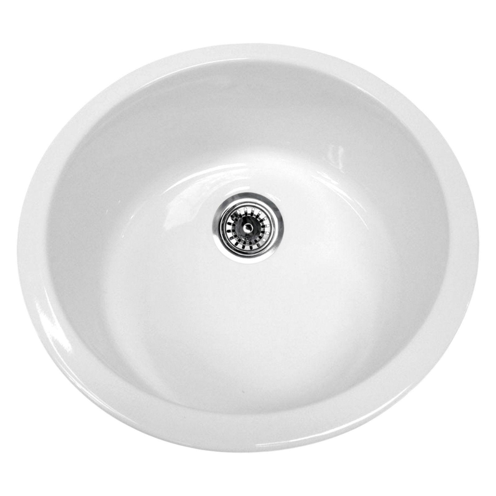 Whitehaus Elementhaus 19 In Round Drop In Undermount Sink Sink
