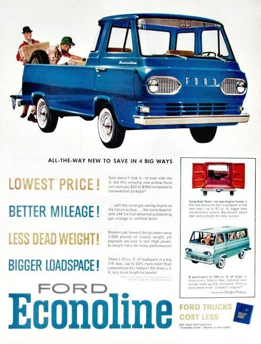 Original 1960 Advertisement For Ford Econoline Art Print Ad Of