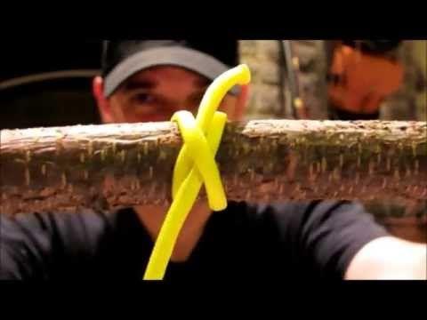 """Knots Part 2: The Clovehitch An excellent knot for pioneering projects, the clovehitch is considered to be one of the """"must know"""" knots for bushcraft, sailing, boy scouts and survival. Thanks for watching and I hope to see you in the woods!"""