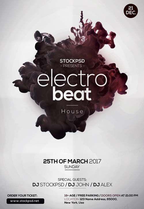 Electro Beats Free Flyer Template - http\/\/freepsdflyer - electro flyer