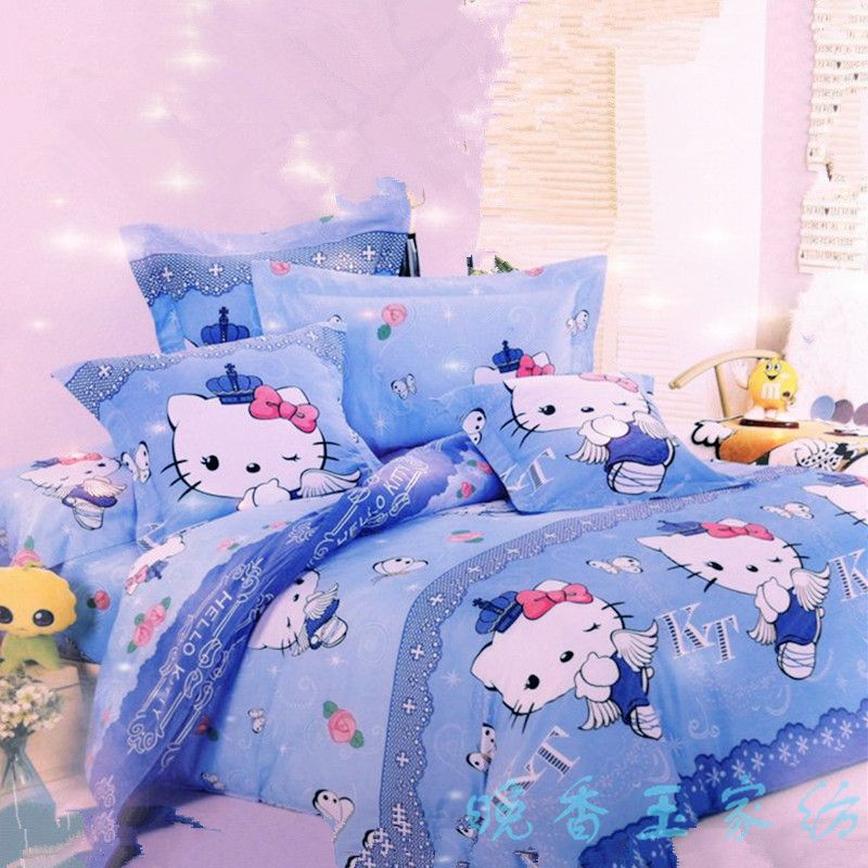 Kt Sky Blue Hello Kitty Bedding Set