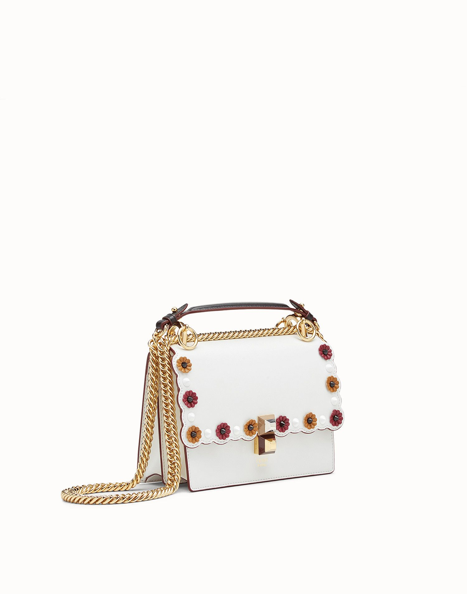 2c93faa113 FENDI KAN I SMALL - White leather mini-bag - view 2 zoom