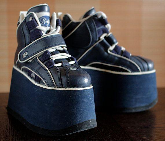 buy popular 8da23 6771e BUFFALO Tower 10cm Platform Rave Club Kid sneakers 90's ...