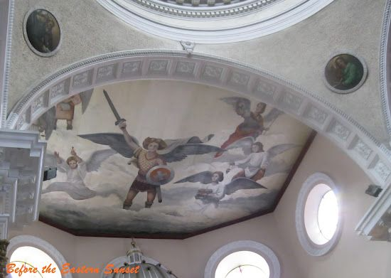 Painting of Saint Michael the Archangel on the ceiling of Binondo Church, Manila.    I believe that the demons shudder whenever they see this painting. It reminds them of their eternal destruction.
