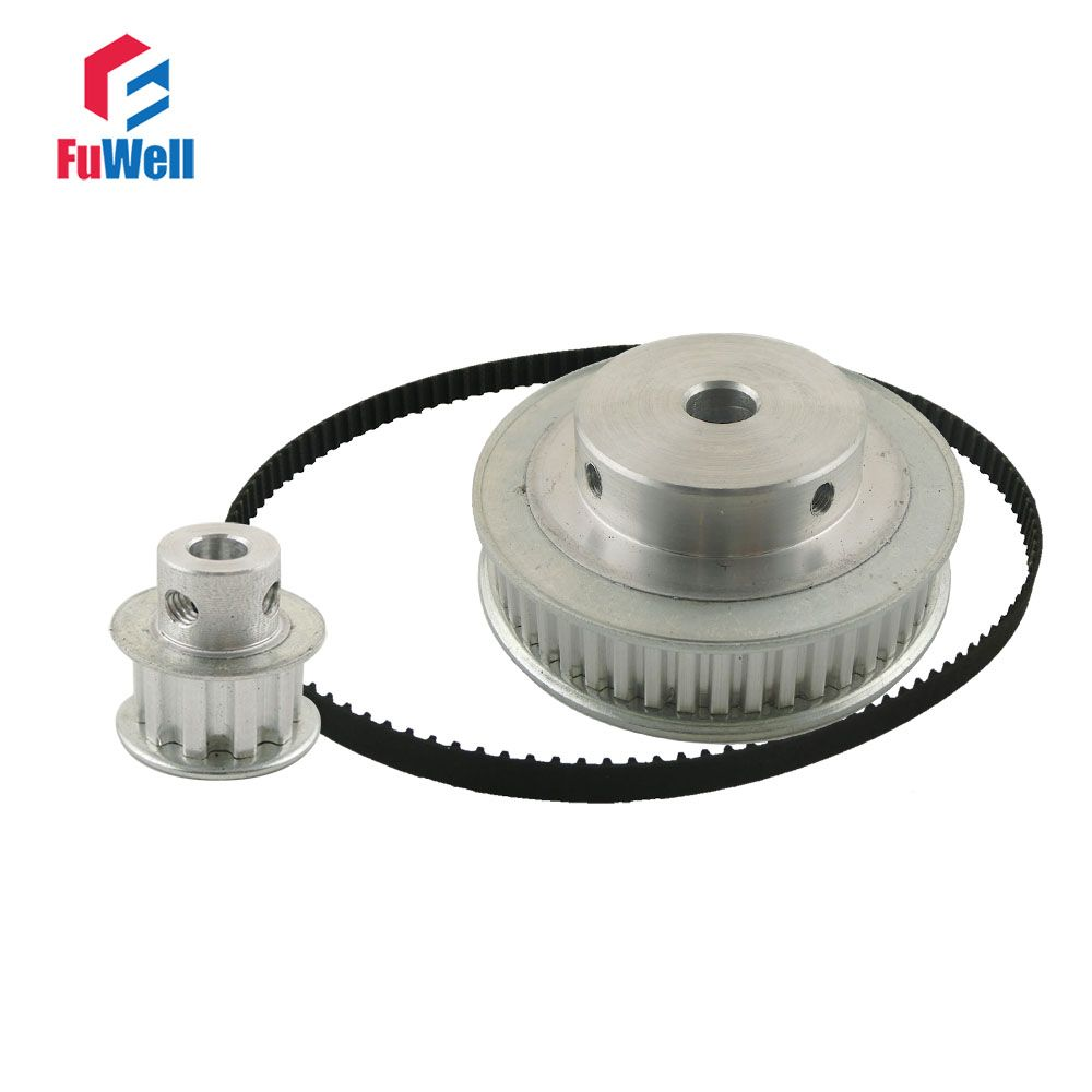 Xl Reduction Timing Pulley Gear Kit Set Ratio 15 51 10teeth Belt Pulleys Aluminum Stock