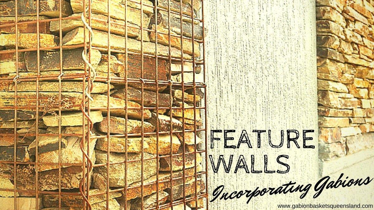 Design Gabion basket Feature wall Sound reduction buffer | Gabion ...