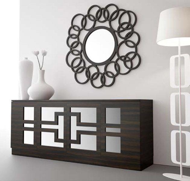 espejos modernos espejos decorativos adornos recibidor moderno recibo soldadura vitrinas muebles comedores