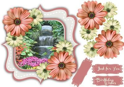 Beautiful Double Bracket and Daisy s 2  on Craftsuprint designed by Ceredwyn Macrae - A lovely card to make and give to anyone with a Double Bracket and Daisy'e a lovely card has two greeting tags and a blank one,  - Now available for download!