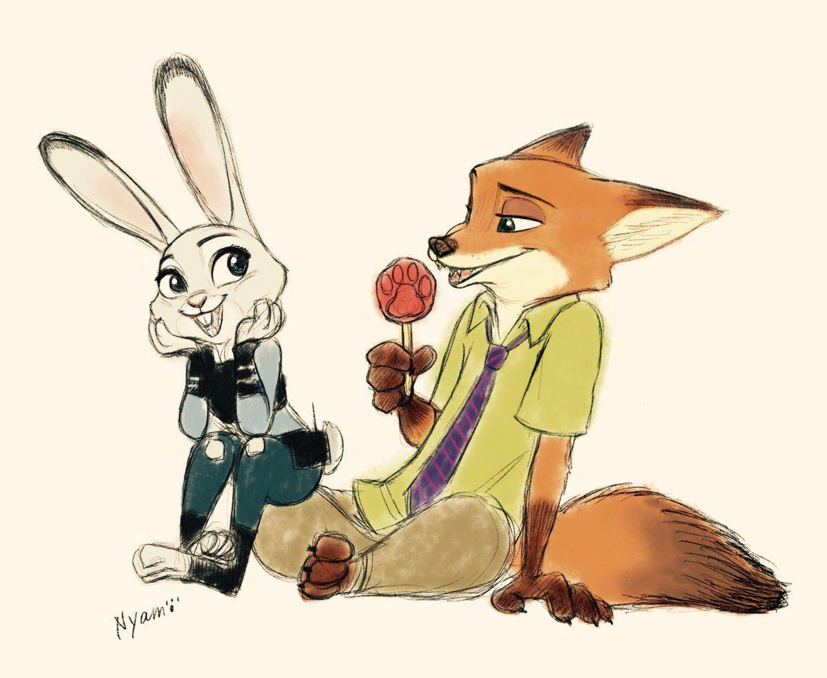 люди мультяшные картинки лисы и зайца это