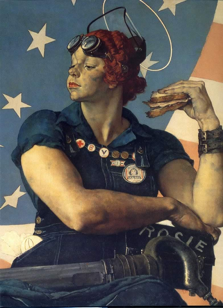 anna the mechanic norman rockwell rosie the riveter google search motor planet utilities. Black Bedroom Furniture Sets. Home Design Ideas