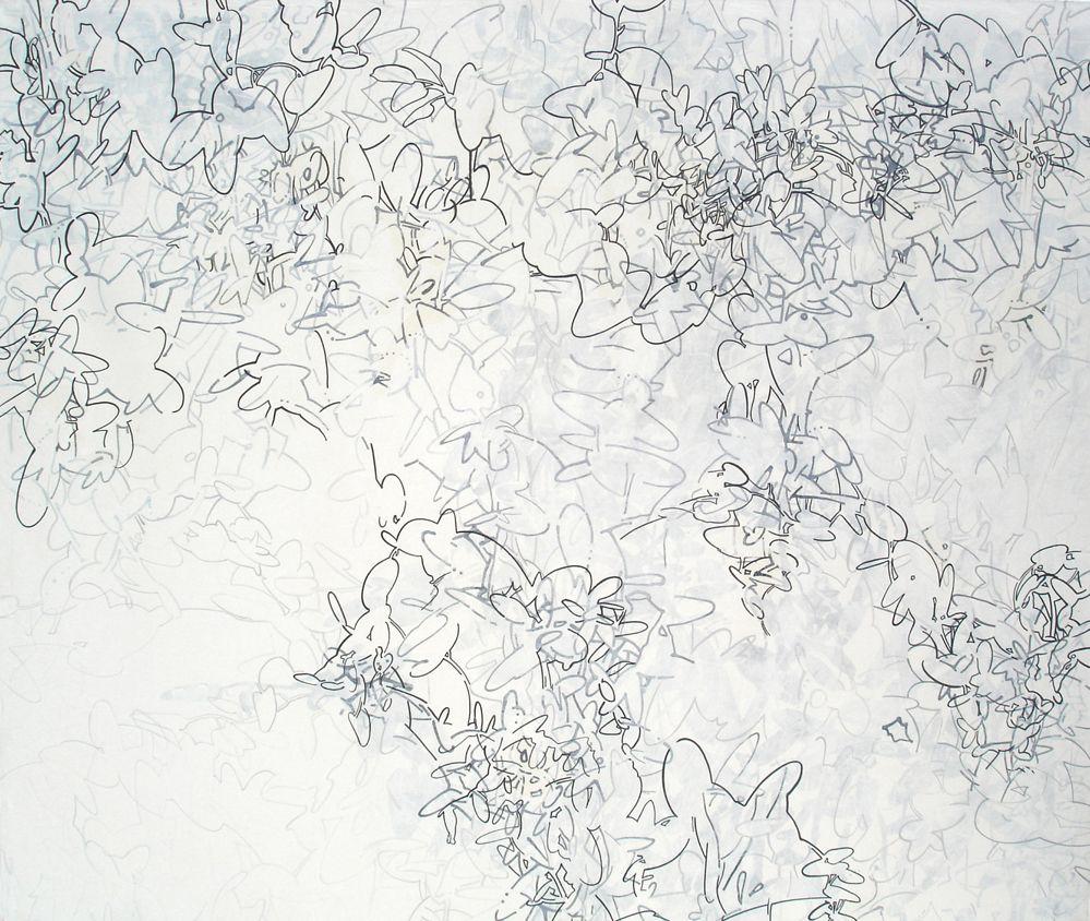 Sin título, 2005, acrílico sobre tela, 140 x 160 cm.