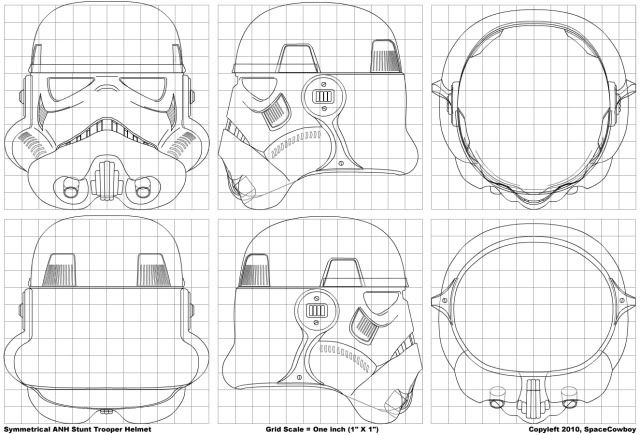 Tutorial How To Build A Stormtrooper Helmet For Less Than 10 Gbp Rh De Drawing Outline