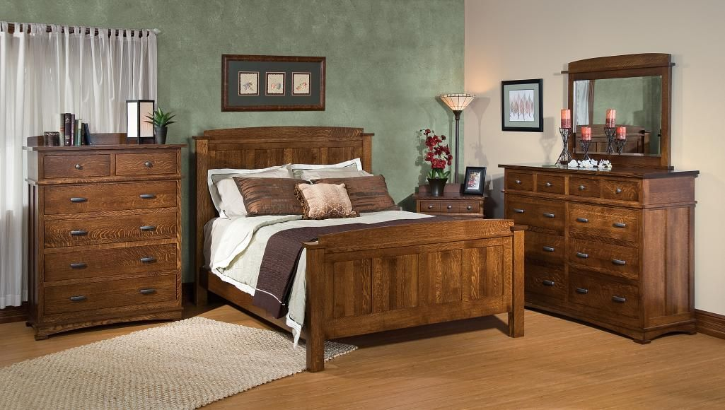 Beautiful Amish made bedroom furniture set SCHWARTZ-KENWOOD