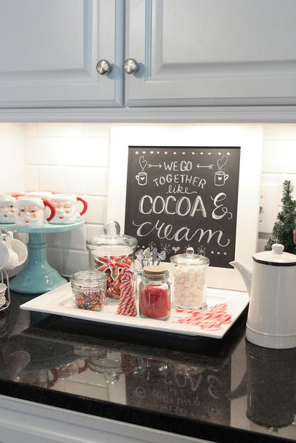 Holiday Open House With Less Than Perfect Life Of Bliss 11 Magnolia Lane Christmas Hot Chocolate Bar Christmas Hot Chocolate Cocoa Bar