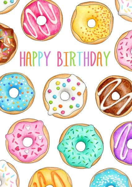 happy birthday donuts another awesome greeting card