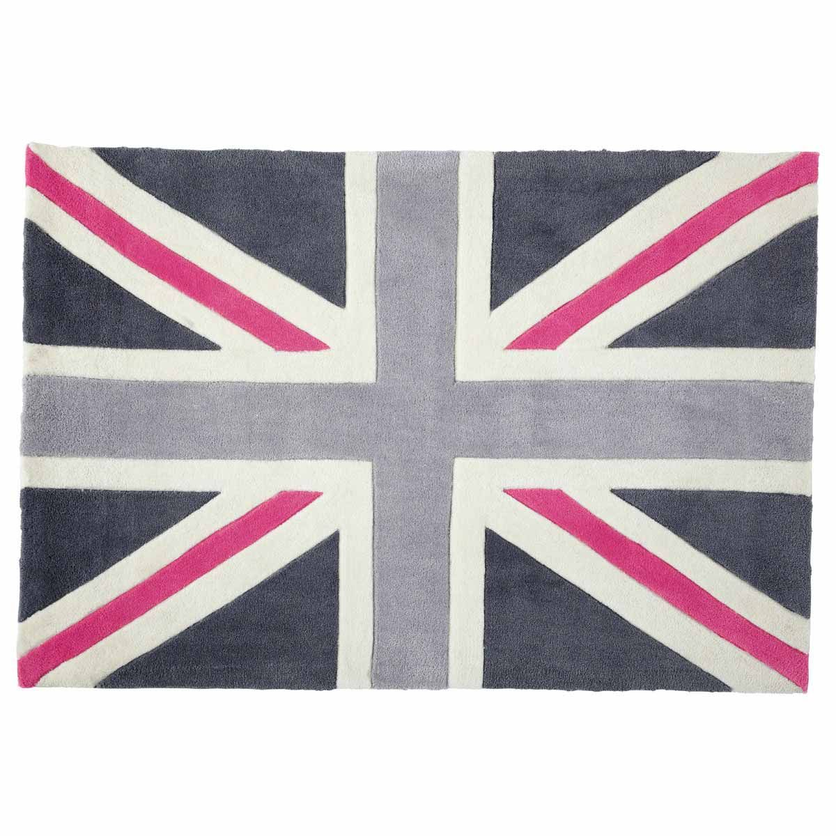 tapis union jack rose 80x120 maisons du monde chambre. Black Bedroom Furniture Sets. Home Design Ideas