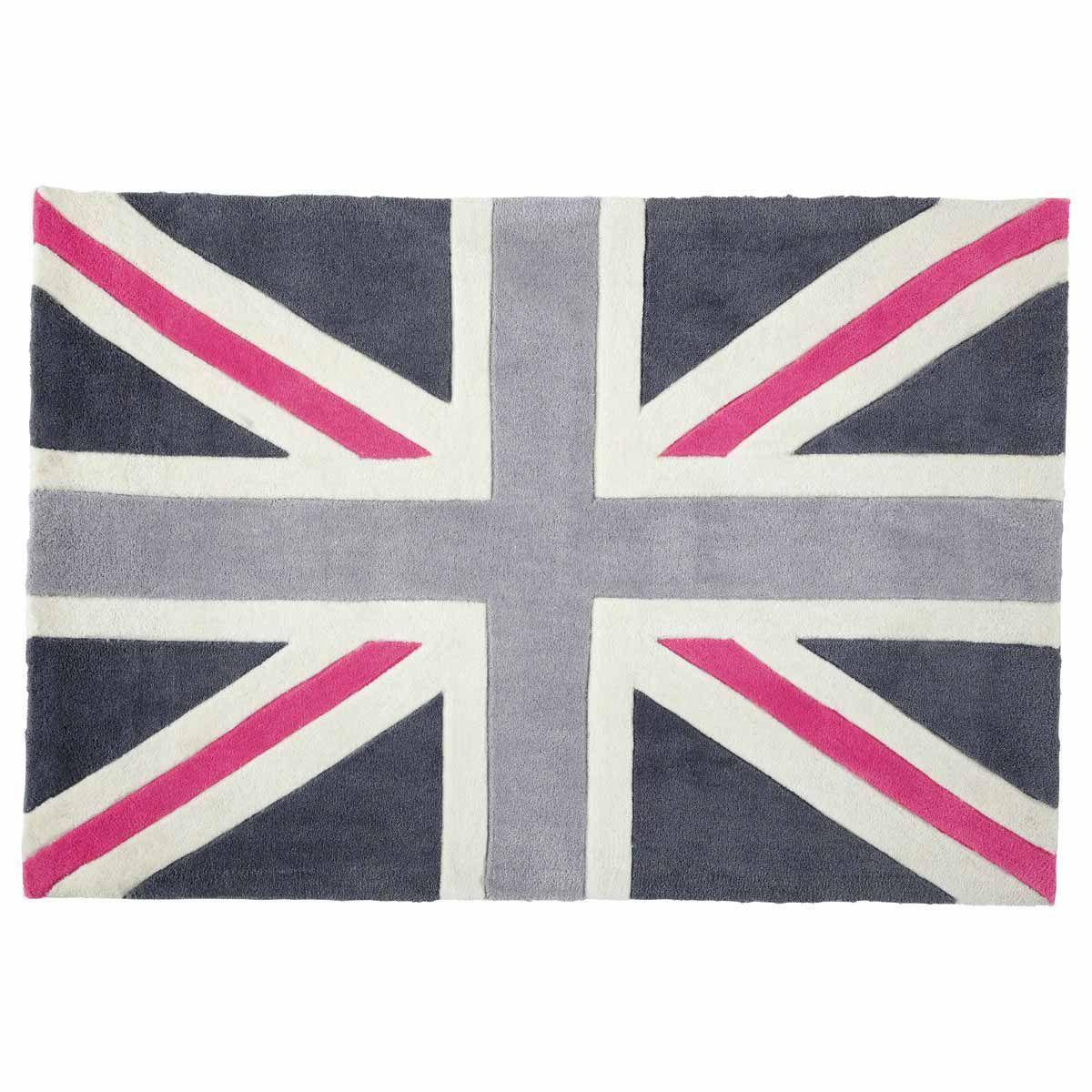 tapis union jack rose 80x120 maisons du monde chambre clara pinterest union jack maison. Black Bedroom Furniture Sets. Home Design Ideas