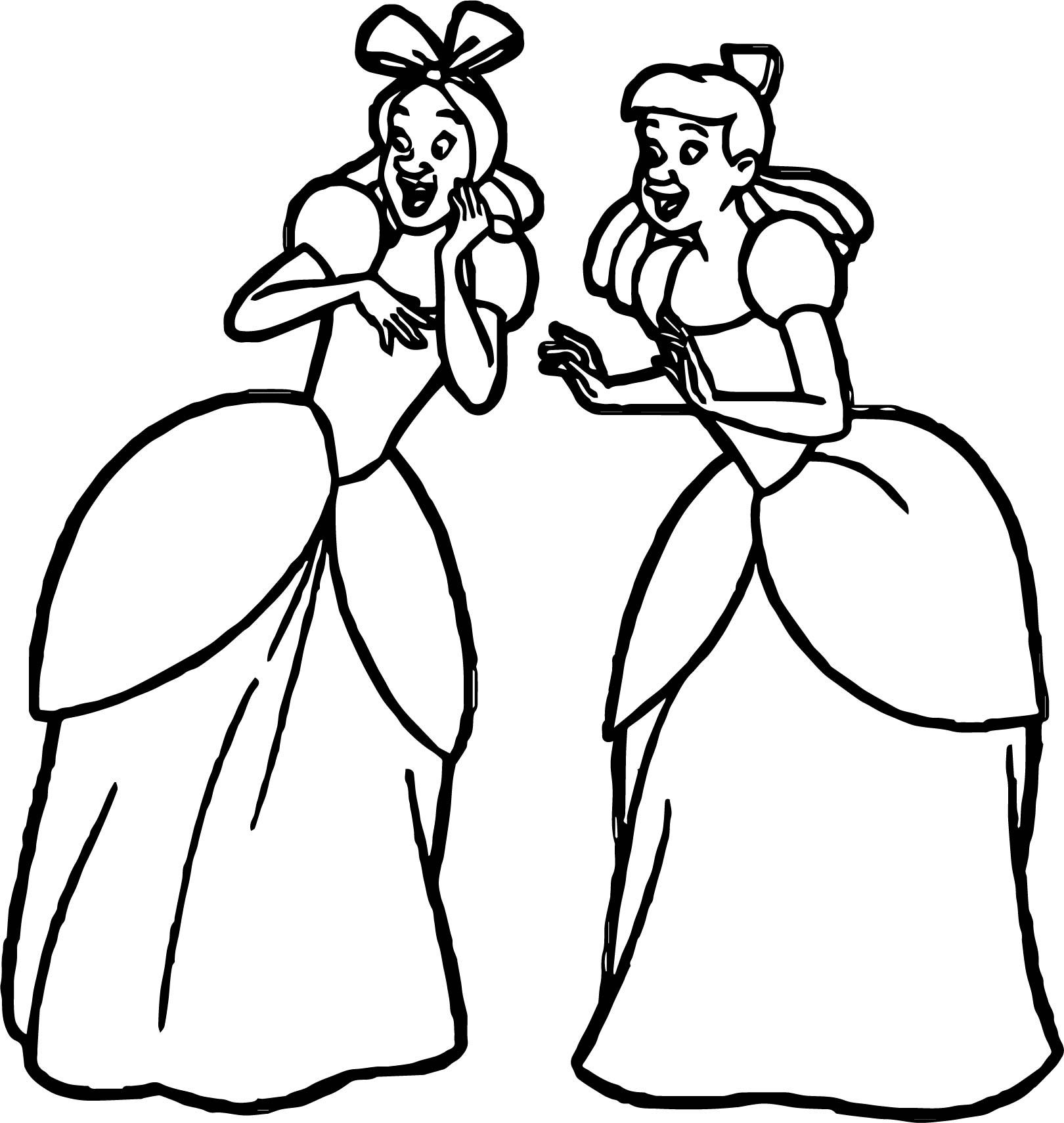 Cool Lady Tremaine Anastasia Drizella Talking Coloring Page