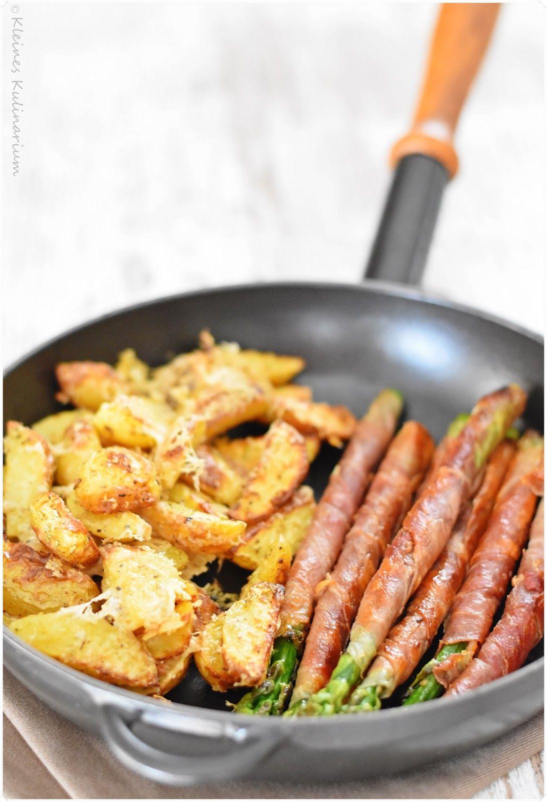 Spargel im Schinkenmantel mit Parmesankartoffeln – Kleines Kulinarium